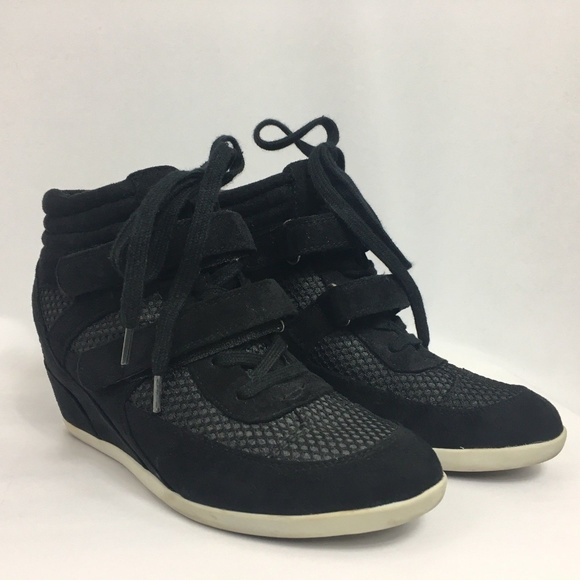 f7cb1399024 Madden Girl Shoes - Madden Girl Hickory Wedge Sneakers 8.5 Shoes Black